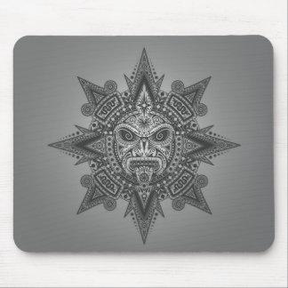 Máscara azteca de Sun (gris) Tapete De Ratones