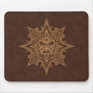 Máscara azteca de Sun (marrón) Tapete De Raton