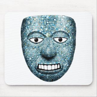 Máscara azteca del mosaico alfombrilla de ratón