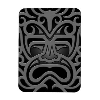 Máscara azteca oscura imán de vinilo