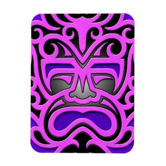 Máscara azteca púrpura imán