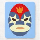 Máscara azul de Lucha Libre Alfombrillas De Raton