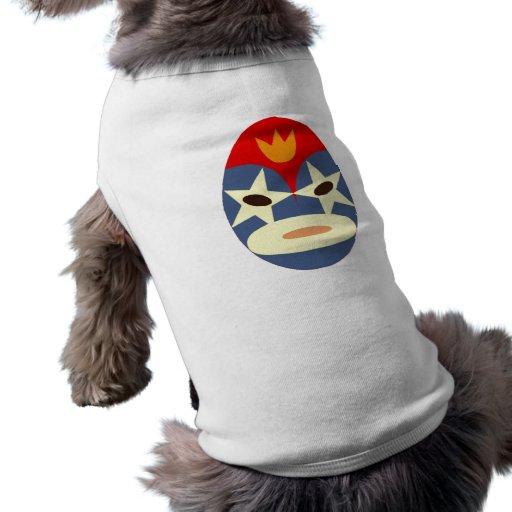 Máscara azul de Lucha Libre Camisas De Mascota