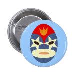 Máscara azul de Lucha Libre Pin