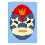 Máscara azul de Lucha Libre Tarjeta