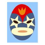 Máscara azul de Lucha Libre Tarjeta Postal