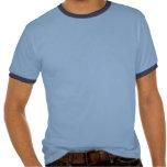 Máscara azul del horror del cráneo camisetas