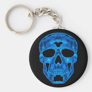 Máscara azul del horror del cráneo llaveros