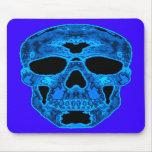 Máscara azul del horror del cráneo tapete de ratón