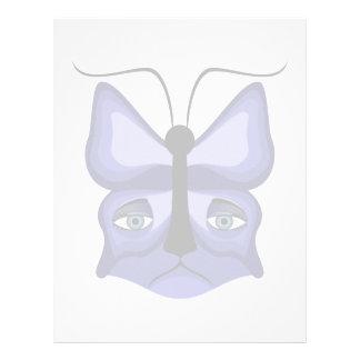 Máscara azul del maullido plantillas de membrete