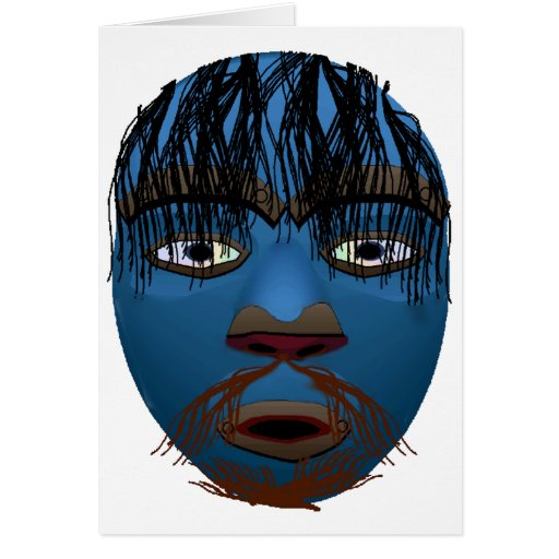 Máscara azul felicitaciones