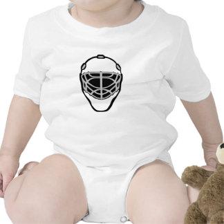 Máscara blanca del portero traje de bebé