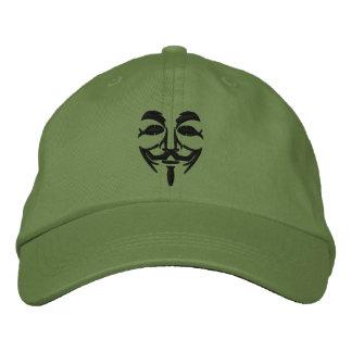 Máscara bordada anónima gorra de beisbol bordada