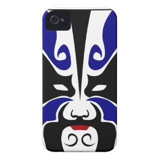 Máscara china azul de la ópera Case-Mate iPhone 4 funda