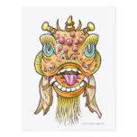 Máscara china del Año Nuevo Tarjetas Postales