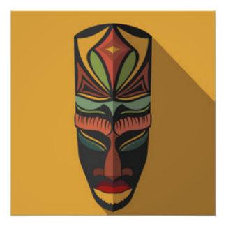 Máscara colorida africana fotografía