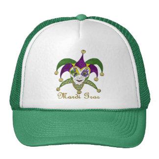 Máscara colorida de los bufones del carnaval gorros bordados