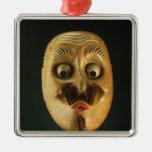 Máscara cómica, teatro de Noh Ornamento Para Arbol De Navidad