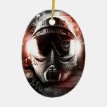 Máscara de Acción Paintball M-2 Adorno Navideño Ovalado De Cerámica