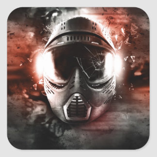 Máscara de Acción Paintball M-2 Pegatinas Cuadradases