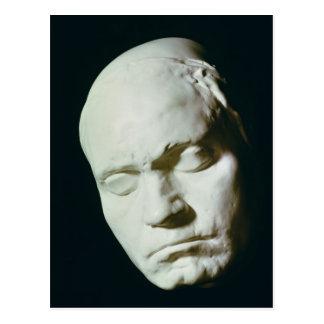 Máscara de Beethoven, tomada a partir de vida a la Tarjeta Postal