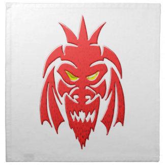 Máscara de diablo devils mask servilleta de papel