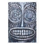 Máscara de dios antiguo (surrealismo, arte del postal