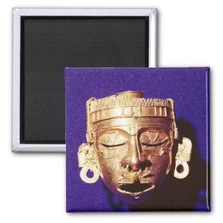 Máscara de dios Xipe Totec Imán Cuadrado