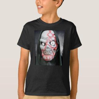 Máscara de Halloween para Niño-T-camisa-Negro Playera