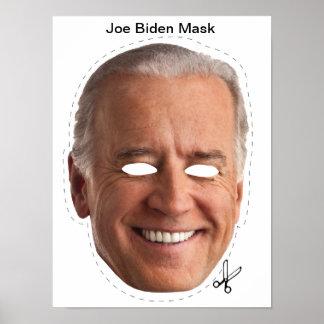 Máscara de Joe Biden Halloween Póster