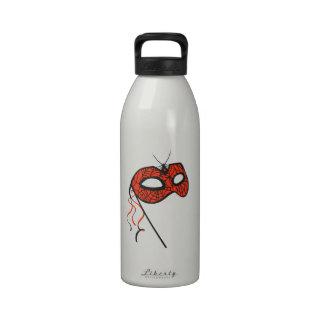 Máscara de la araña botella de agua reutilizable