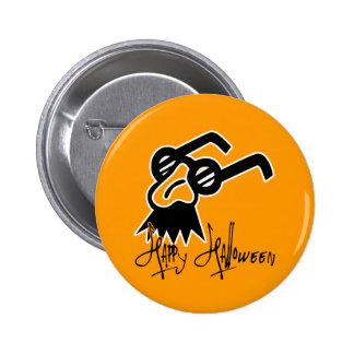 Máscara de la comedia del feliz Halloween Pins
