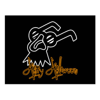 Máscara de la comedia del feliz Halloween Postales