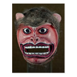 Máscara de la danza en la forma de mono postal