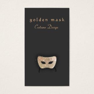 Máscara de la lentejuela del oro de las artes tarjetas de visita