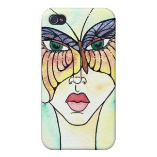 Máscara de la mariposa iPhone 4 protectores