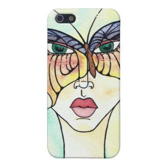Máscara de la mariposa iPhone 5 carcasa