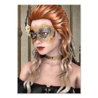 Máscara de la mascarada cojinete
