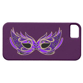 Máscara de la mascarada de la púrpura real iPhone 5 fundas