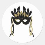 Máscara de la mascarada en pegatinas del negro y d