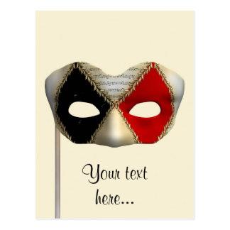 Máscara de la mascarada tarjeta postal