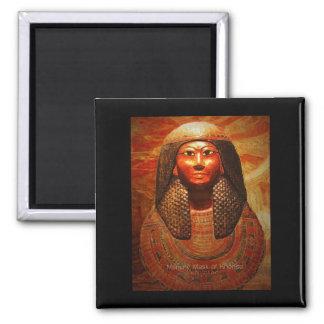 Máscara de la momia de Khonsu 1279-1213 B.C Imán Cuadrado