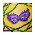 Máscara de la púrpura de la mascarada teja  ceramica