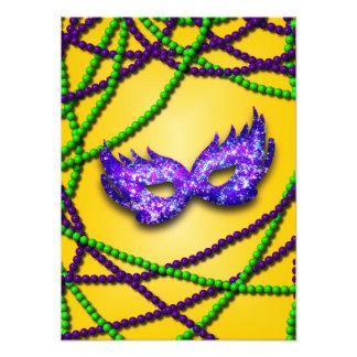 Máscara de la púrpura de la mascarada cojinete