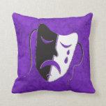 Máscara de la tragedia almohadas