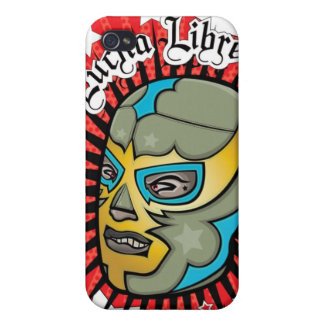 Máscara de lucha mexicana de Lucha Libre iPhone 4 Protectores
