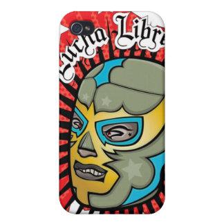 Máscara de lucha mexicana de Lucha Libre iPhone 4 Cárcasas