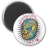Máscara de lucha mexicana de Lucha Libre Imán Redondo 5 Cm