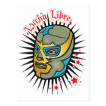 Máscara de lucha mexicana de Lucha Libre Tarjetas Postales