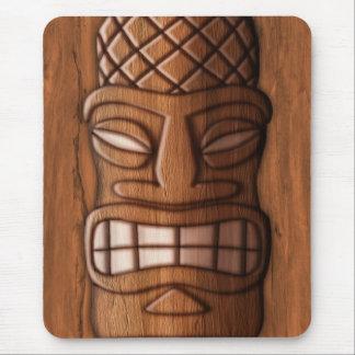 Máscara de madera de Tiki Alfombrillas De Ratón
